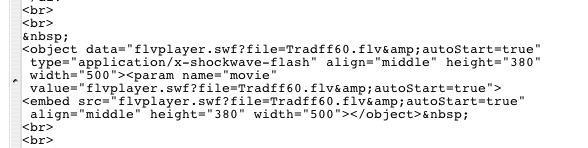 Utilisation flvplayer.swf - Vidéo et Web - Forum Mac-Vidéo on