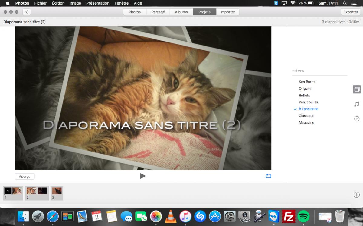 Assembler des photos avec iphoto